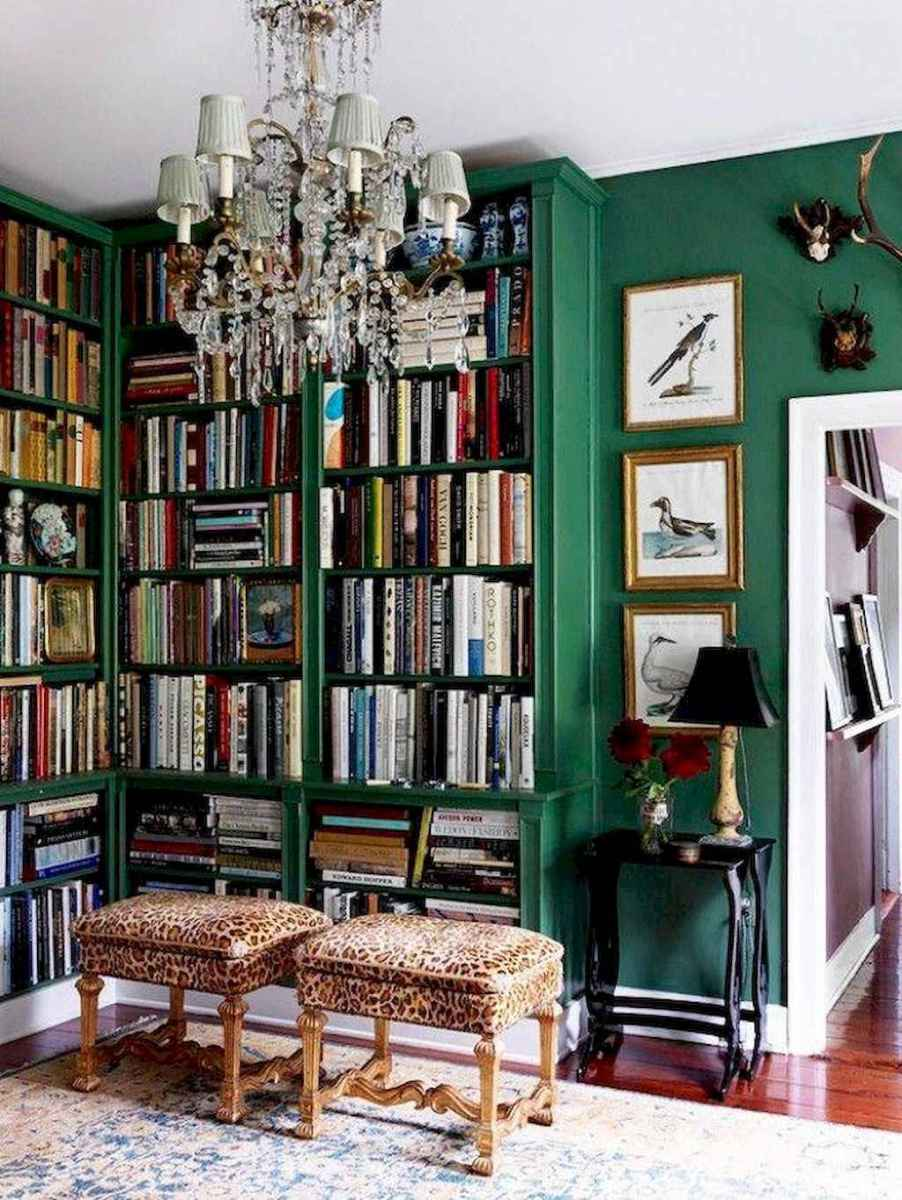60 amazing eclectic design ideas for your library room (3)
