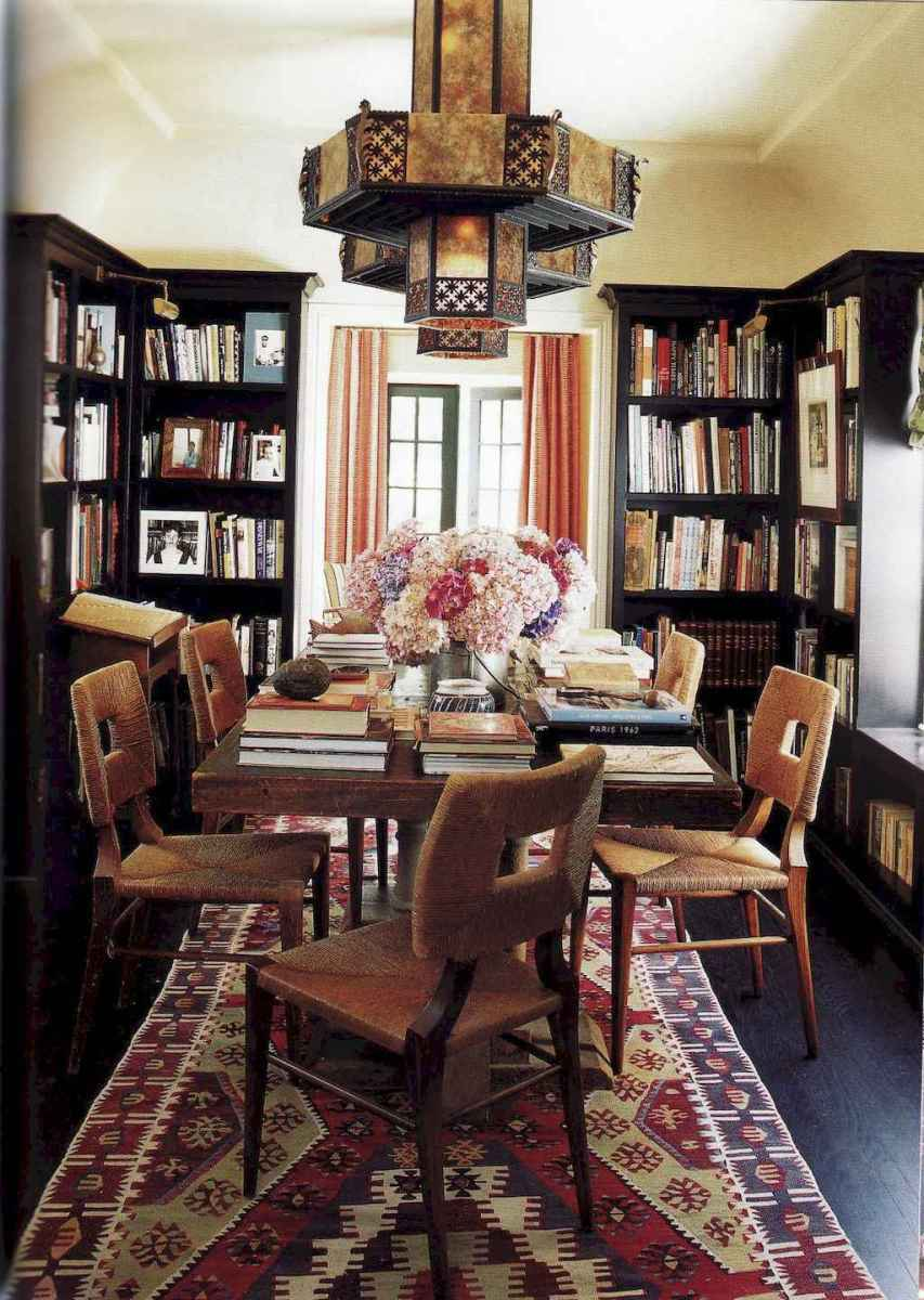 60 amazing eclectic design ideas for your library room (42)
