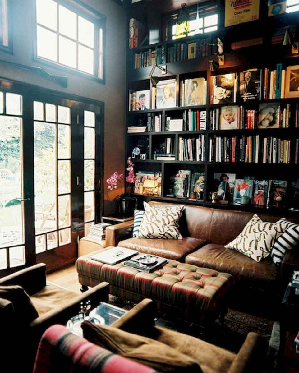 60 amazing eclectic design ideas for your library room (44)