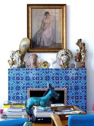 60 beautiful eclectic fireplace decor (32)