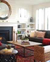 60 beautiful eclectic fireplace decor (42)