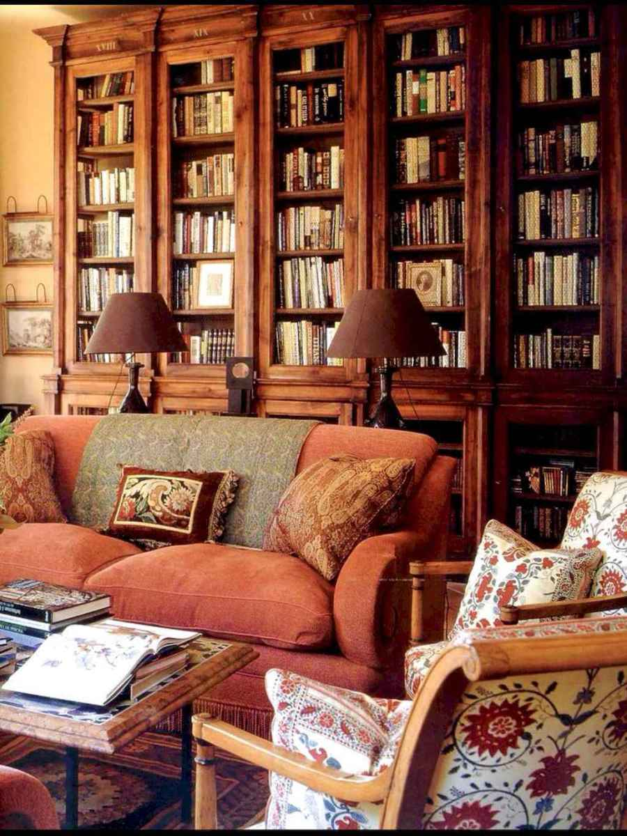 60 cool ideas vintage library at home (32)