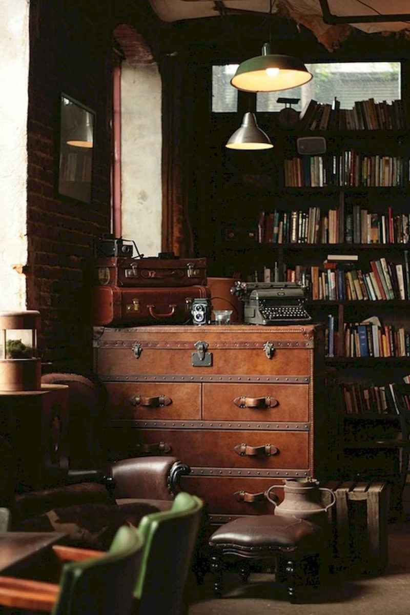 60 cool ideas vintage library at home (42)