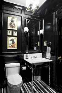 60 cute inspired vintage powder room (18)