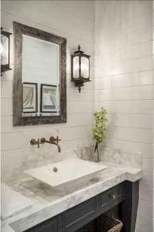 60+ pretty powder rooms with rustic design (33)