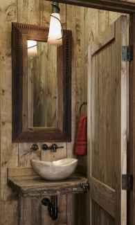 60+ pretty powder rooms with rustic design (44)