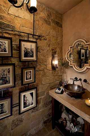 60+ pretty powder rooms with rustic design (51)