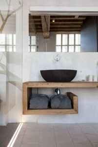60+ pretty powder rooms with rustic design (57)