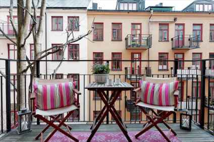 72 smart balcony designs with scandinavian ideas (49)