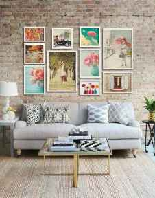 Awesome gallery wall living room ideas (38)