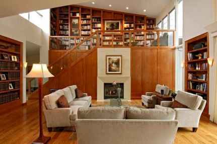 Beautiful home library design ideas (10)