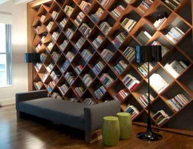 Beautiful home library design ideas (40)