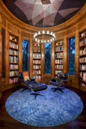 Beautiful home library design ideas (49)