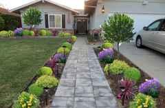 50 diy flower garden ideas in front of house (3)
