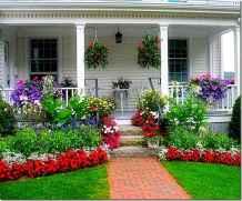 50 diy flower garden ideas in front of house (6)