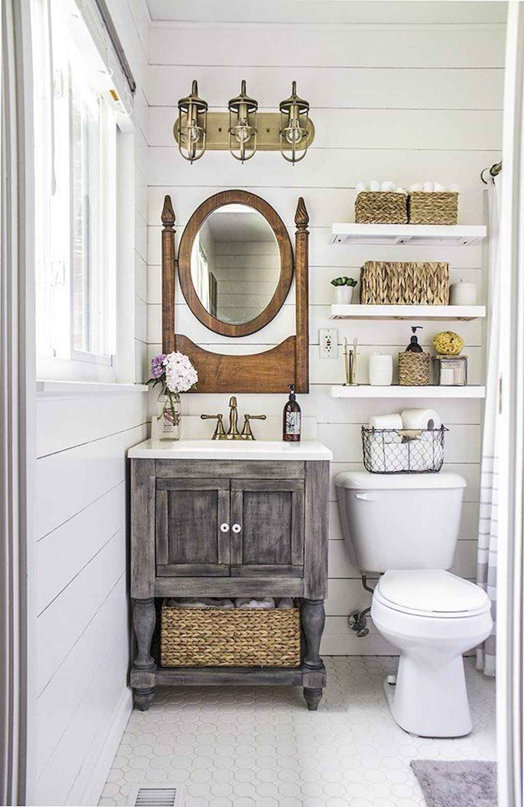 50 Rustic Farmhouse Master Bathroom Remodel Ideas - Roomadness