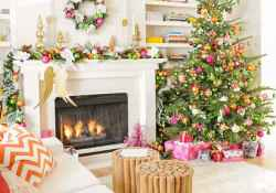 60 apartment decorating ideas for christmas (47)