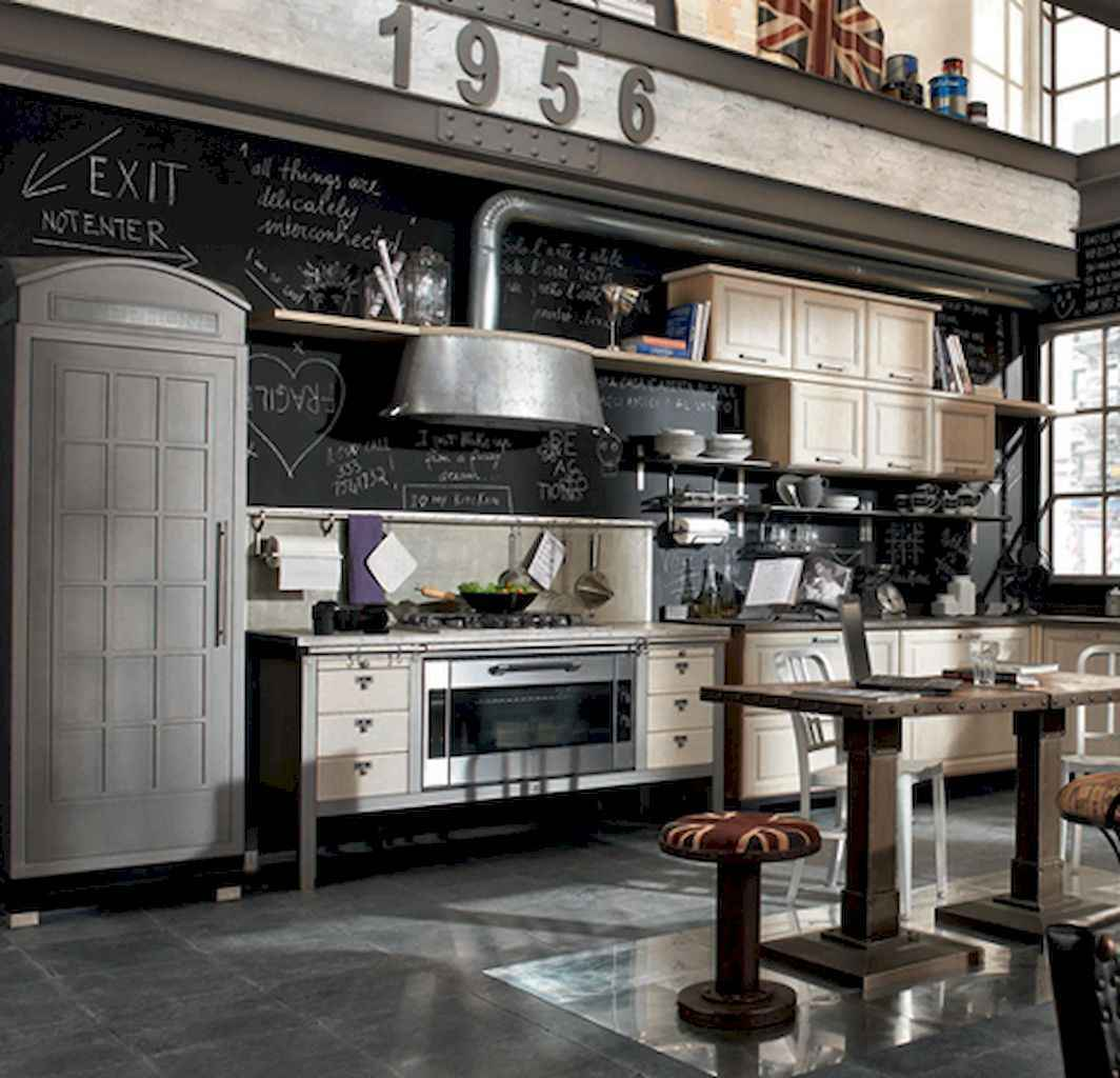 70 amazing industrial furniture ideas decoration for your kitchen (57)