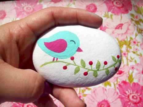 70 diy painted rock for first apartment ideas (6)