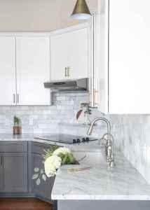 150 gorgeous farmhouse kitchen cabinets makeover ideas (58)