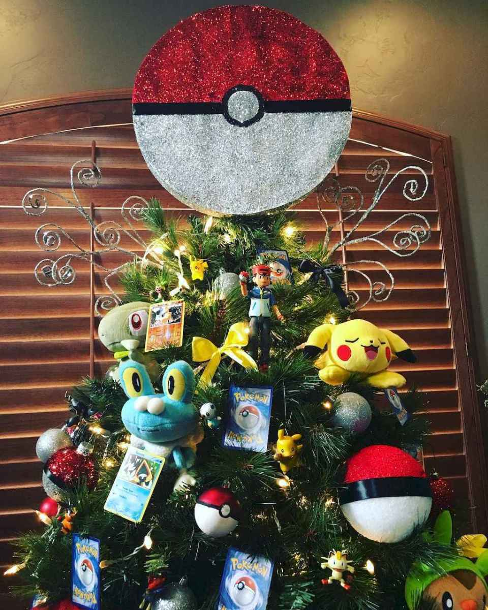 22 cute pokemon christmas tree decor ideas (7)