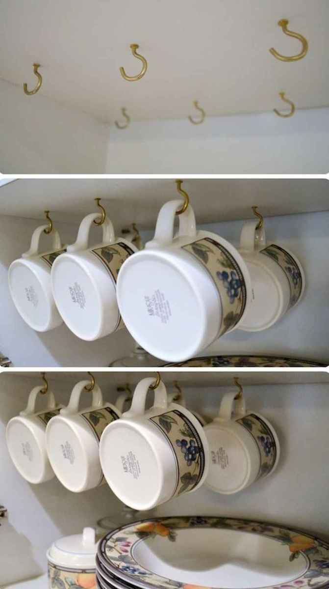 40 space saving storage and oragnization ideas for small kitchens redesign (10)