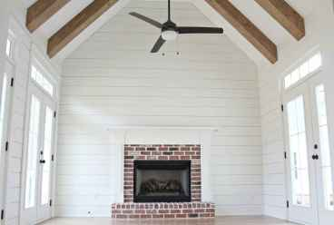 80 incridible rustic farmhouse fireplace ideas makeover (27)