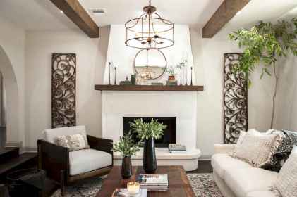 80 incridible rustic farmhouse fireplace ideas makeover (34)