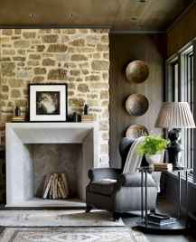 80 incridible rustic farmhouse fireplace ideas makeover (39)