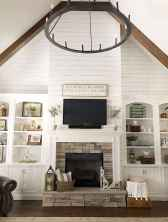 80 incridible rustic farmhouse fireplace ideas makeover (42)
