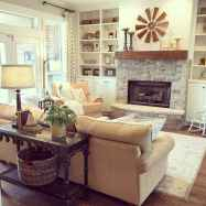 80 incridible rustic farmhouse fireplace ideas makeover (5)