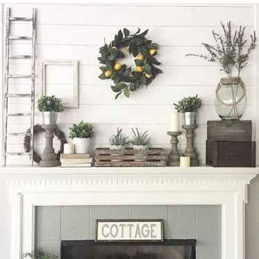 80 incridible rustic farmhouse fireplace ideas makeover (71)