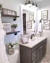 110 spectacular farmhouse bathroom decor ideas (69)