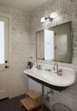 110 spectacular farmhouse bathroom decor ideas (99)