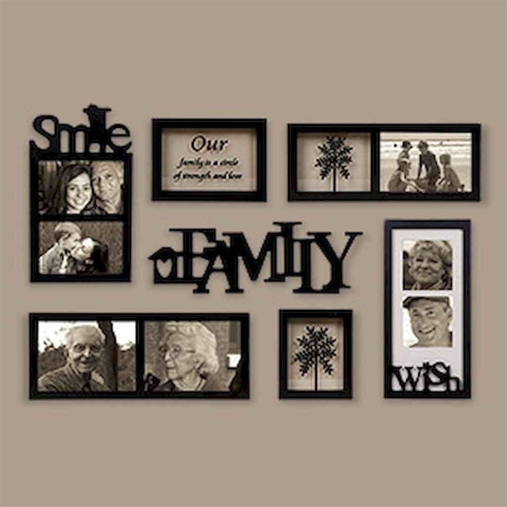40 diy family photos display ideas for apartment decor (39)