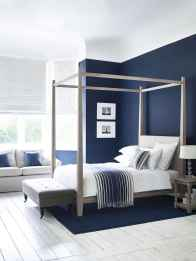 40 navy master bedroom decor ideas (19)