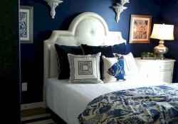 40 navy master bedroom decor ideas (35)