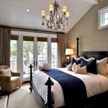 40 navy master bedroom decor ideas (41)