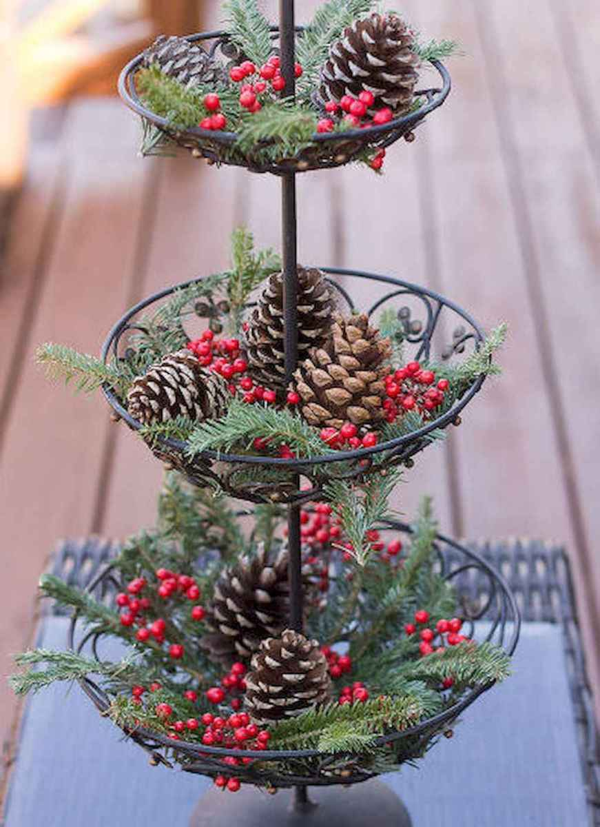 45 outdoor pine cones christmas decorations ideas (41)