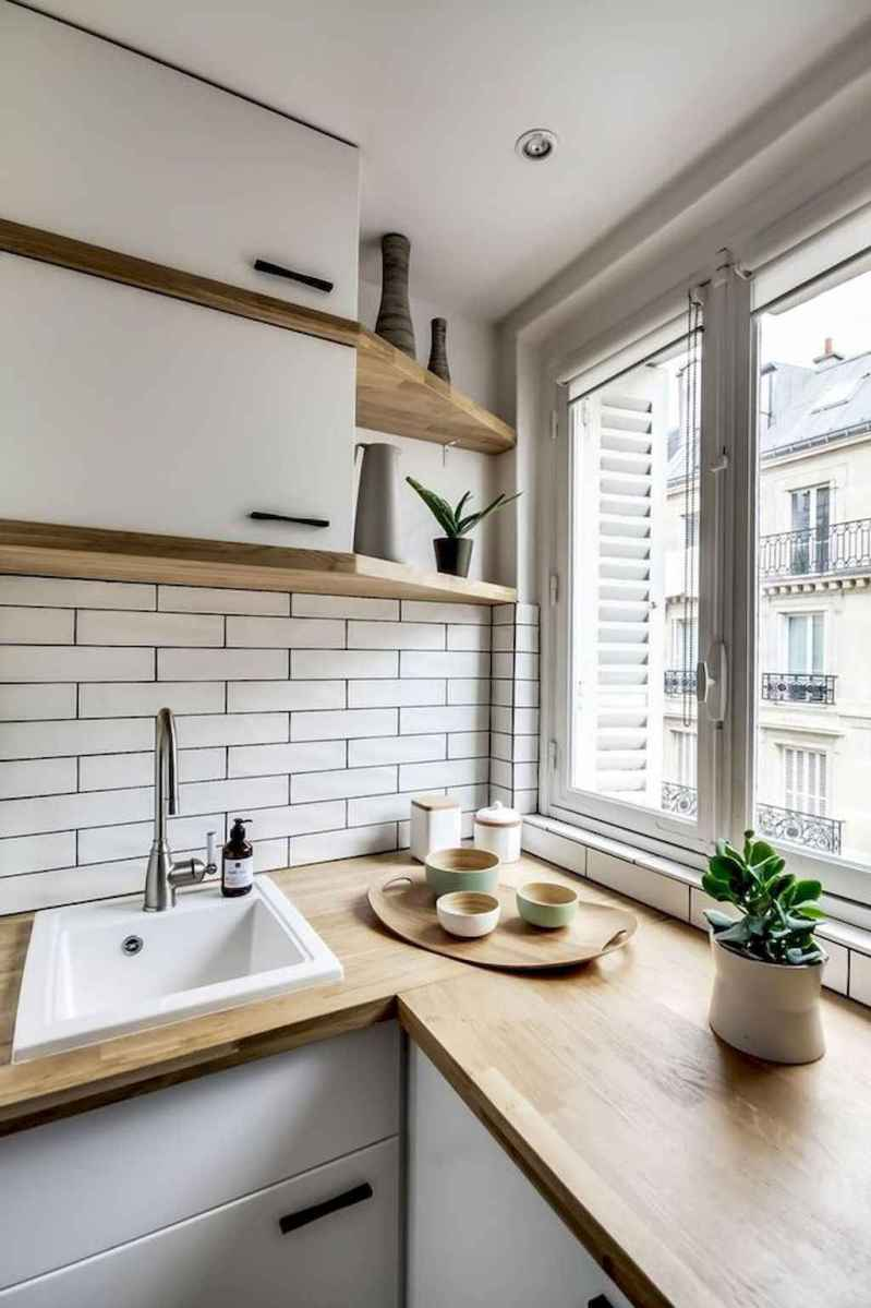 50 amazing small apartment kitchen decor ideas (35)