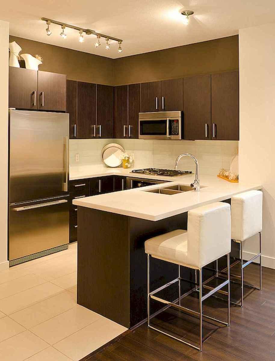 50 amazing small apartment kitchen decor ideas (36)