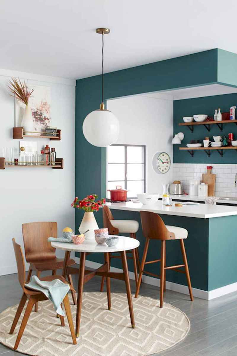 50 amazing small apartment kitchen decor ideas (45)