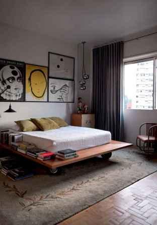 50 stunning vintage apartment bedroom decor ideas (14)