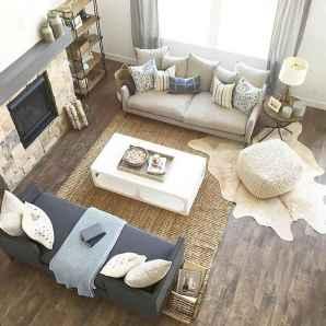 60 cool modern farmhouse living room decor ideas (11)