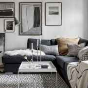 60 cool modern farmhouse living room decor ideas (22)