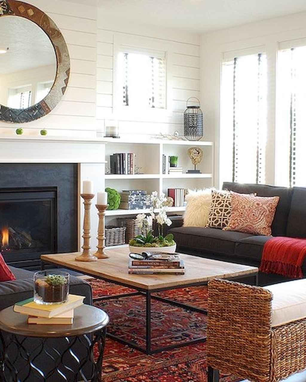 Cool Living Room Decor: 60 Cool Modern Farmhouse Living Room Decor Ideas (42