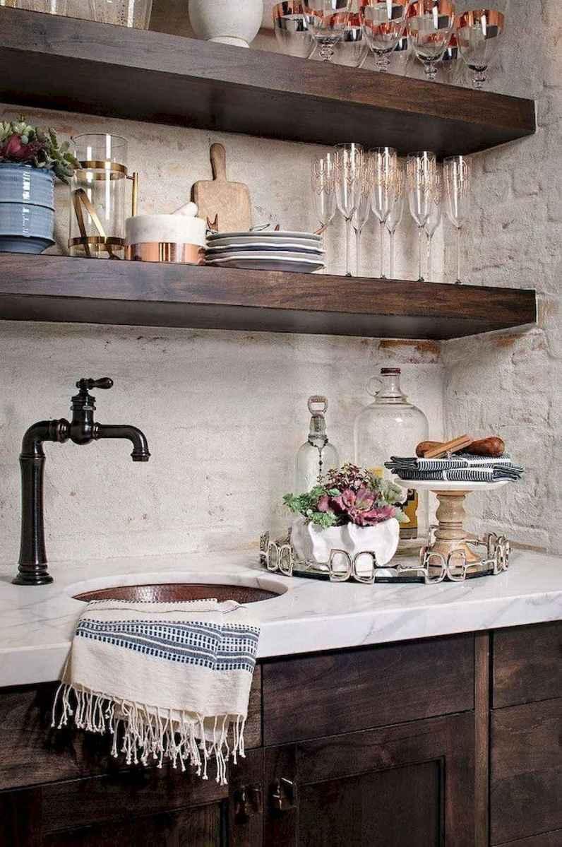 60 fancy farmhouse kitchen backsplash decor ideas (1)