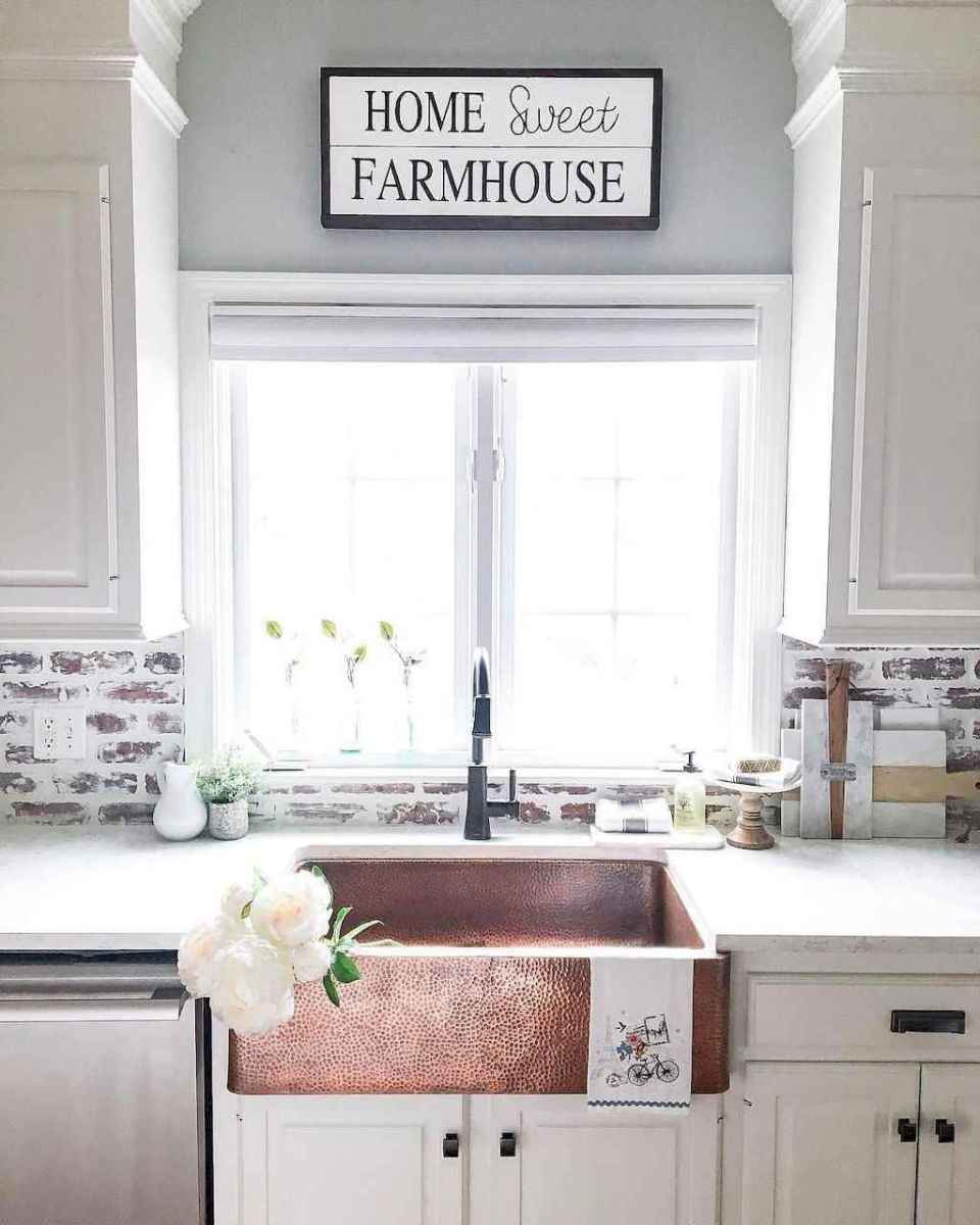 30 Awesome Kitchen Backsplash Ideas For Your Home 2017: 60 Fancy Farmhouse Kitchen Backsplash Decor Ideas (16
