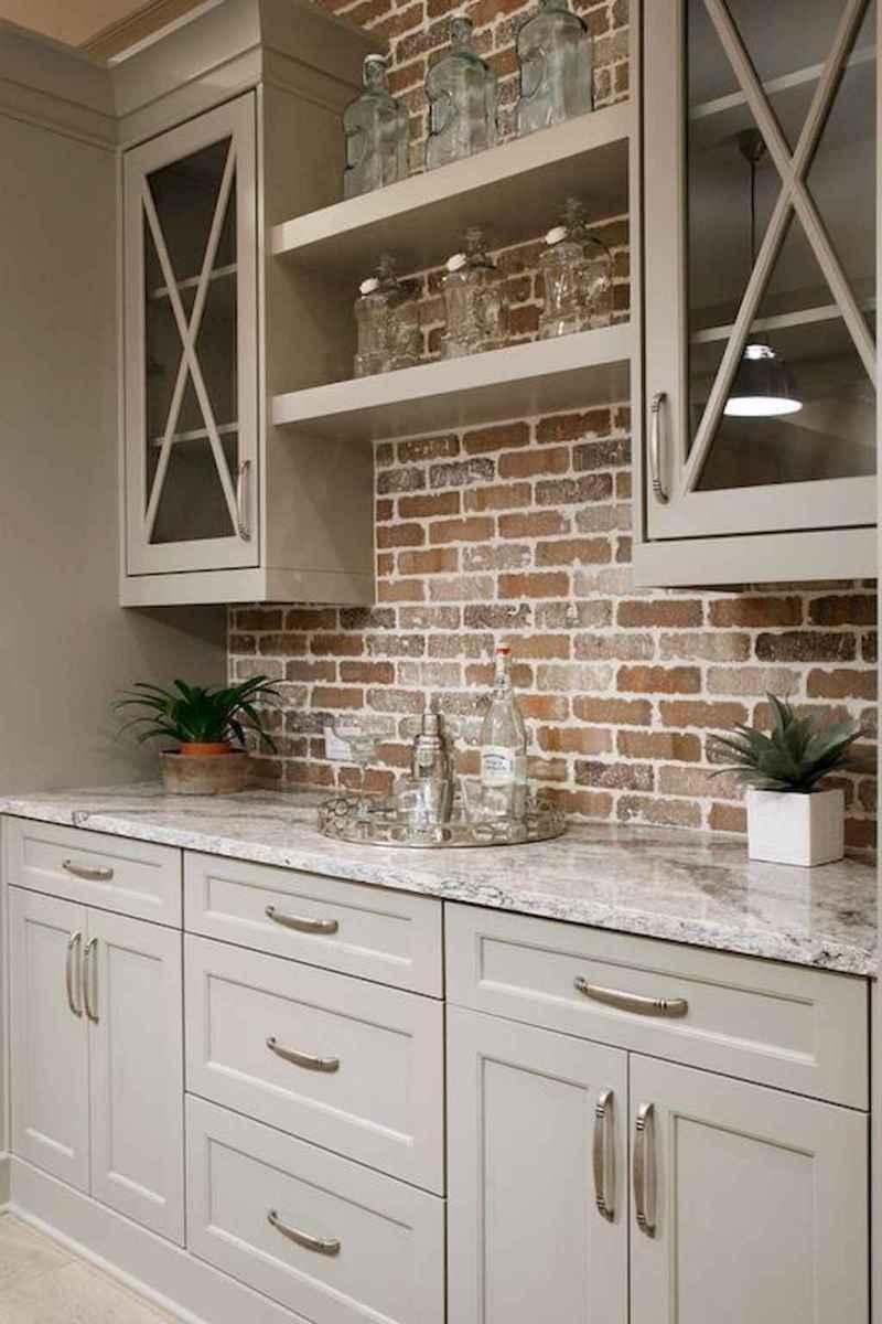 60 fancy farmhouse kitchen backsplash decor ideas (49)
