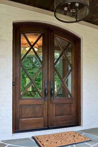 90 awesome front door farmhouse entrance decor ideas (26)